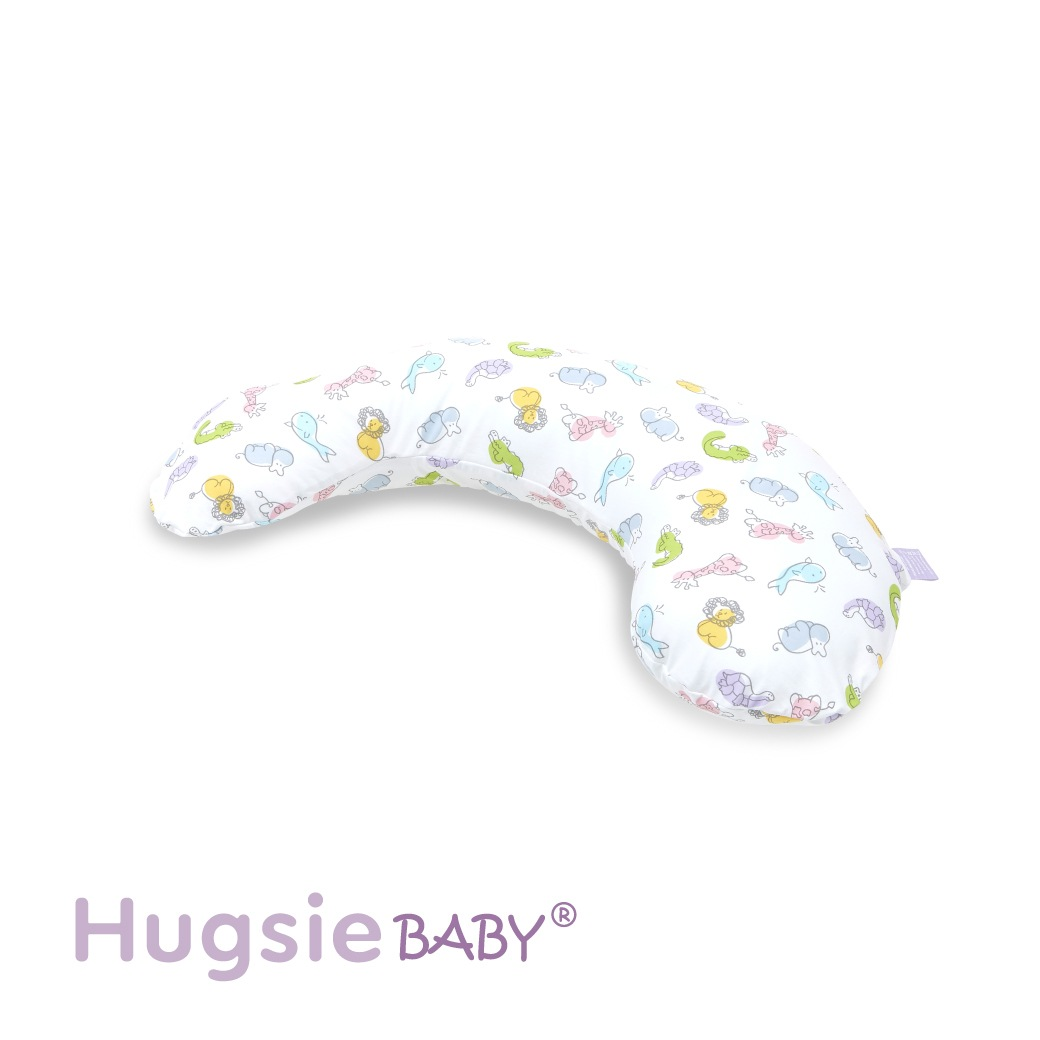 防螨寶貝枕-美國棉動物塗鴉枕套